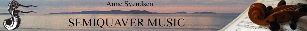 Semiquaver music Anne Svendsen